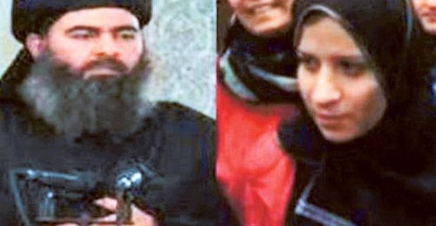Abu Bakr al-Baghdadi and his wife Saja al-Duleimi.