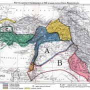 The Sykes-Picot map of 1916.