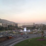 The Umayyad Square in central Damascus.