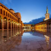 The Grand Umayyad Mosque of Damascus.