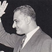 Egyptian President Gamal Abdul Nasser in the 1950s
