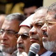 Leaders of the Egyptian Muslim Brotherhood in 2011.