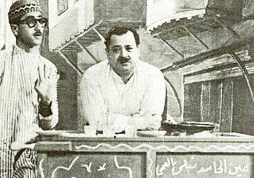 Syrian comedy pioneers Duraid Lahham and Nihad Quali on screen in 1960.