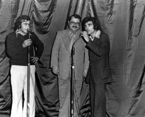 Nihad Quali on stage at Damascus University in the mid-1970s.