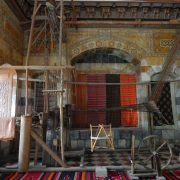 A brocade loom on display at the Azm Palace in Old Damascus. PHOTO CREDIT: MAHMOUD NOUWEILATI