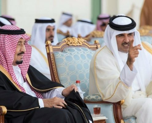 King-Salman-of-Saudi-Arabia-and-Emir-Sheikh-Tamim-bin-Hamad-Al-Thani-of-Qatar
